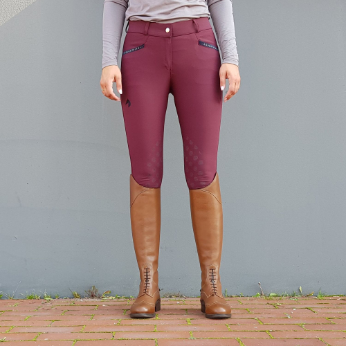 HEDVIG JR KNEE GRIP BREECHES JACSON BURGUNDY i gruppen Ryttare / Junior / Ridbyxor hos Charlies Häst (1007180240)