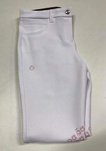 GIRLS COLOR GRIP BREECHES CAVALLERIA TOSCANA VIT i gruppen Ryttare / Junior / Ridbyxor hos Charlies Häst (1079171610)