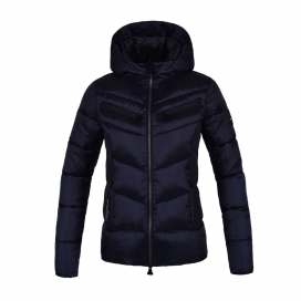 NAKINA LADIES INSULATED JACKET WITH HOOD KINGSLAND NAVY