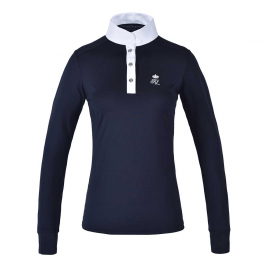 TIMMINS LADIES LS SHOW SHIRT KINGSLAND NAVY
