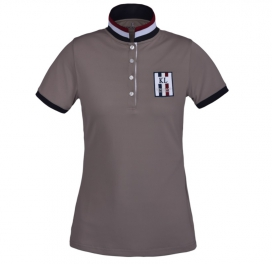 URSA LADIES TEC PIQUE POLO SHIRT KINGSLAND BEIGE CINDER