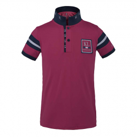 FUENGIROLA JUNIOR TEC PIQUE POLO SHIRT KINGSLAND PINK CARMINE
