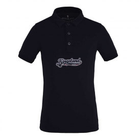 AMIRAT GIRLS TEC PIQUE POLO SHIRT KINGSLAND NAVY