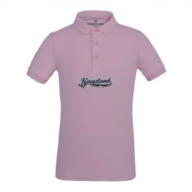 AMIRAT GIRLS TEC PIQUE POLO SHIRT KINGSLAND PINK ROSE SHADOW