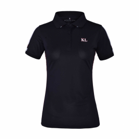 KLUMA LADIES TEC MICRO PIQUE POLO KINGSLAND NAVY