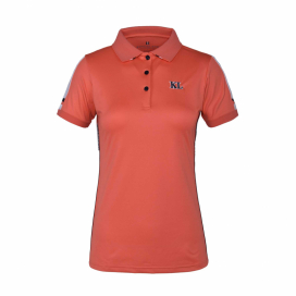 KLUMA LADIES TEC MICRO PIQUE POLO KINGSLAND CORAL