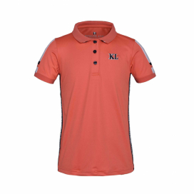 KLVERA JUNIOR TEC MICRO PIQUE POLO KINGSLAND CORAL