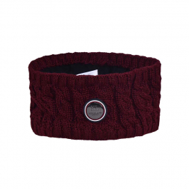 SAANICH LADIES KNITTED HEADBAND KINGSLAND ONESIZE RED PORT ROYAL
