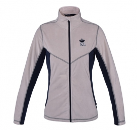 ARKINSON LADIES FLEECE JACKET KINGSLAND BEIGE SILVER CLOUD