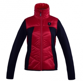FOLLY LADIES FLEECE JACKET KINGSLAND RED TANGO