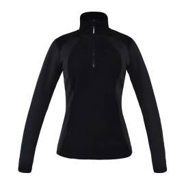 MELODY LADIES 1/2 ZIP MICRO FLEECE KINGSLAND BLACK