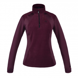 MELODY LADIES 1/2 ZIP MICRO FLEECE KINGSLAND RED PORT ROYAL