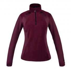 MICHELLE GIRLS 1/2 ZIP JUMPER KINGSLAND RED PORT ROYAL
