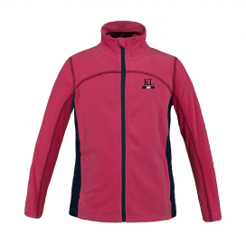 MALAGA JUNIOR MICRO FLEECE JACKET KINGSLAND PINK CARMINE
