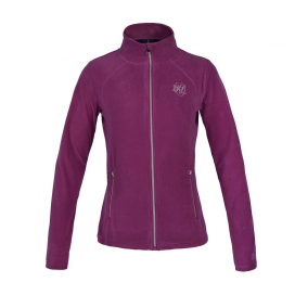 HAZEL LADIES MICRO FLEECE JACKET KINGSLAND PINK MAGENTA HAZE