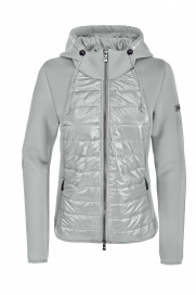 JOSY MATERIAL MIX JACKET PIKEUR LIGHT GREY