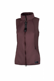 LIN SOFTSHELL VÄST PIKEUR LIGHT AUBERGINE