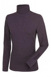 SINA POLO NECK PULLOVER PIKEUR GRAPE MELANGE