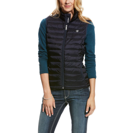 IDEAL DOWN VEST ARIAT OVERALL NAVY