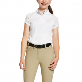 GIRLS APTOS VENT SHOW SHIRT ARIAT WHITE