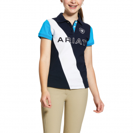 GIRLS TARYN POLO ARIAT NAVY/NAUTILUS