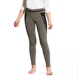 GIRLS FREJA TIGHTS KNEE PATCH ARIAT CHARCOAL
