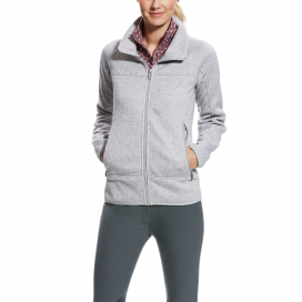 SOVEREIGN FULL ZIP ARIAT HEATHER GREY