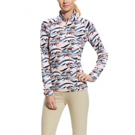 LOWELL 2.0 WOMENS 1/4 ZIP ARIAT FLOW PRINT