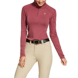 WOMENS CADENCE WOOL 1/4 ZIP ARIAT HAWTHORNE ROSE