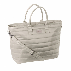 GLOSSY SHOPPER BAG PLATINUM ESKADRON BEIGE