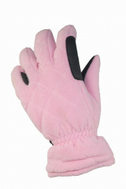 RIDHANDSKE JR FLEECE 5-FINGER HORSE SMART ROSA
