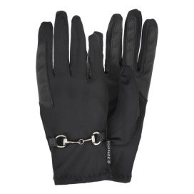 AJEAN GLOVES WITH BIT EQUIPAGE BLACK