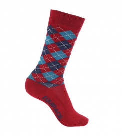 LAX AGRYLE SOCKS EQUIPAGE POMEGRANATE