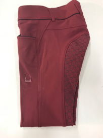 TOULOUSE BREECHES FULLSEAT SILICONE EQUIPAGE POMEGRANATE