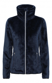 CARIBOU JUNIOR 2ND LAYER TEDDY FLEECE JACKET EQUIPAGE NAVY
