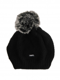WOOL POM-POM HAT AA ONESIZE BLACK