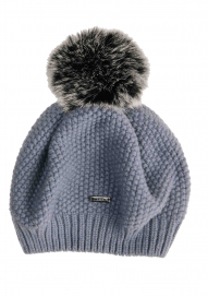 WOOL POM-POM HAT AA ONESIZE AVIATION BLUE