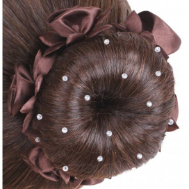SD HAIRNET CRYSTAL BEADS BROWN