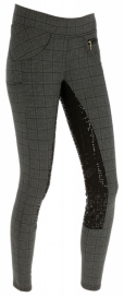 RIDING TIGHTS CHECK LADIES COVALLIERO ANTHRACITE RUTIG