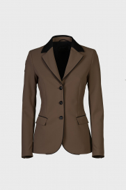 GP PERFORATED RIDING JACKET CAVALLERIA TOSCANA BRUN
