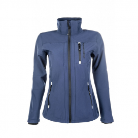 LADIES SOFTSHELL JACKET HKM DEEP BLUE