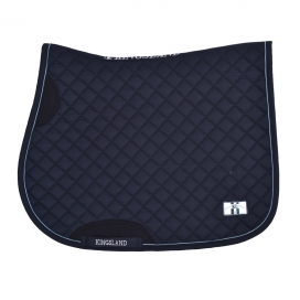 DALZELL SADDLE PAD WITH COOLMAX KINGSLAND NAVY