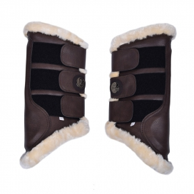 JOSE FRAM PROTECTION BOOTS 2-PACK KINGSLAND FULL BROWN LEATHER