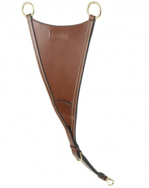 IKONIC SOFT LEATHER BIB CLIPS TO MARTINGAL FULL BROWN