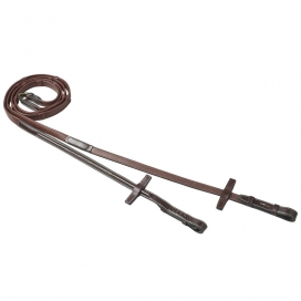CALFLINED REINS WITH STOPPERS FANCY IKONIC