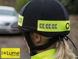 EQUIFLECTOR FLASHING HAT BAND YELLOW