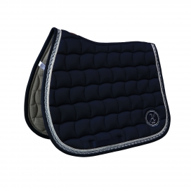 SERENA FLORAL SADDLE PAD HARCOUR NAVY