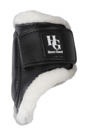 PROCECTION BOOTS WITH FUR HIND HORSE GUARD SVART