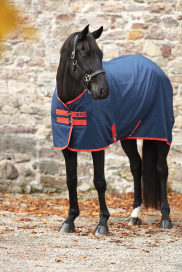 MIO STABLE SHEET HORSEWARE NAVY/RED