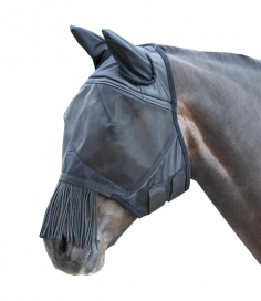 FLY MASK WITH EARS AND TASSELS